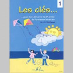 cahier de vacances Marie-Hélène Siciliano : Les Clés Vol.1 - Partitions