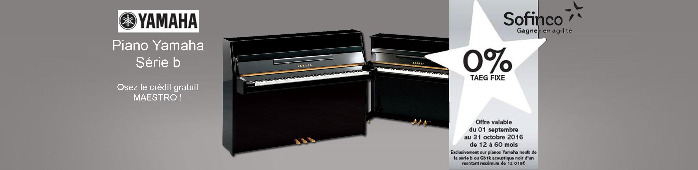 PIANO YAMAHA SERIE B CREDIT GRATUIT