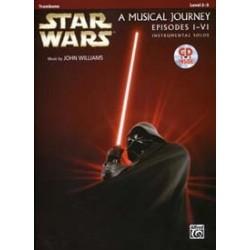 STAR WARS MUSICAL pour trombone JOURNEY EPISODES I - VI TROMBONE CD