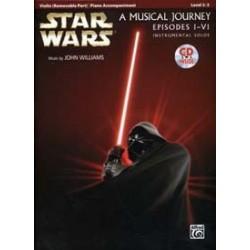 STAR WARS MUSICAL violon&piano JOURNEY EPISODES I - VI VIOLIN/PIANO ACC. CD