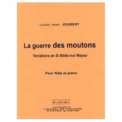 Claude-Henry Joubert La Guerre des Moutons Partition Flûte et piano