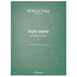 Wilhelm Popp Idylle Tzigane Partition Flûte et Piano