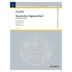 Wilhelm Popp Russisches Zigeunerlied Air Bohémien Russe Opus 462 N° 2 Partition Flûte et Piano