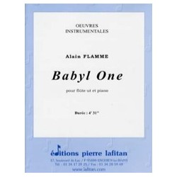 Alain Flamme Babyl One Partition Flûte et Piano