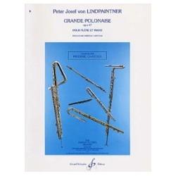 Peter Jospeh von LINDPAINTNER Grande polonaise opus 47 Partition Flûte et Piano