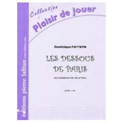 Dominique Patteyn Les dessous de Paris Partition - Saxophone alto et piano