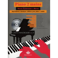 COLLECTION ANACROUSE 3 PIANO 2 MAINS