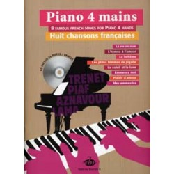 COLLECTION ANACROUSE PIANO 4 MAINS CHANSONS FRANCAISES