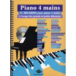 COLLECTION ANACROUSE PIANO 4 MAINS MELODIES GRANDS ET PETITS