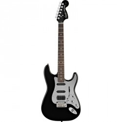 GUITARE ELECTRIQUE SQUIER BLACK AND CHROME Standard stratocaster HSS BLACK RW 0321703506