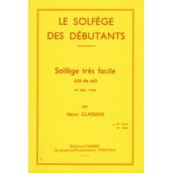 CLASSENS SOLFEGE DEBUTANT 1 CLE SOL
