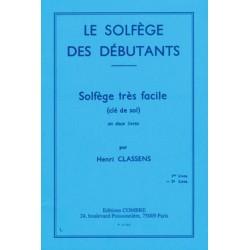 CLASSENS SOLFEGE DEBUTANT 2 CLE SOL