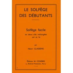 CLASSENS SOLFEGE DEBUTANT CLE SOL ET FA MELANGEES
