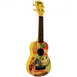 UKULELE MAKALA SOPRANO UKADELIC PEACE AND LOVE