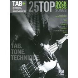 25 TOP ROCK BASS SONGS TAB