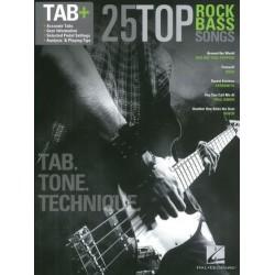 25 TOP ROCK BASS SONGS TAB