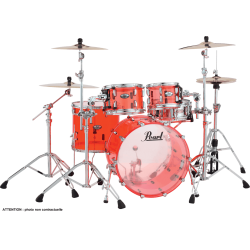 "Pearl Crystal Beat Fusion 20"" 4 fûts - Ruby red"