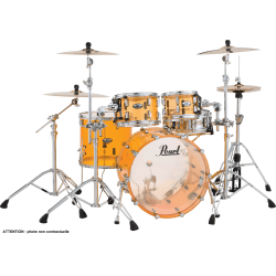 "Pearl Crystal Beat Fusion 20"" 4 fûts - Tangerine Glass"