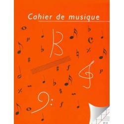 CAHIER DE MUSIQUE12 PORTEES ET PAGES SEYES