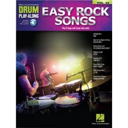 EASY ROCK SONGS 42 DRUM PLAY ALONG