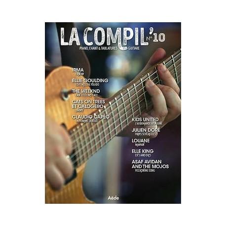 LA COMPIL 10 Auteurs Divers Partition - Piano Chant Guitare avec Tablatures