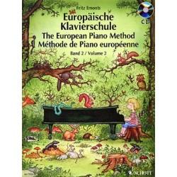 Auteur EMONTS Fritz Méthode de piano européenne - Vol. 2 AVEC CD