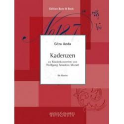 Mozart Cadenzas to W. A. Mozart's piano concertos