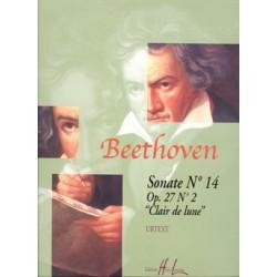 BEETHOVEN Ludwig van Sonate n°14 Op.27 n°2 Clair de lune