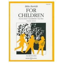 Bela Bartok For Children Volume 1