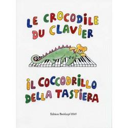 Le CROCODILE DU CLAVIER - Pièces faciles Partitions Piano 2 mains