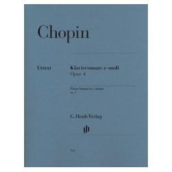 Chopin Sonate pour piano en do mineur Opus 4