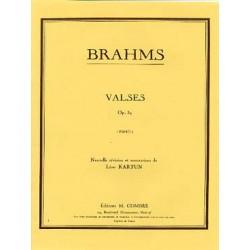 BRAHMS VALSES OP39 PIANO