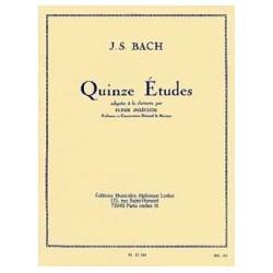Bach Johann Sebastian / Delecluse Ulysse 15 Etudes - Clarinette