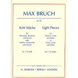 Max Bruch 8 Stücke op. 83, n° 2 h-moll – Klarinette Viola Klavier