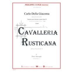 Carlo DELLA GIACOMA Fantaisie, op. 83 (Cavalleria Rusticana) - Clarinette et piano
