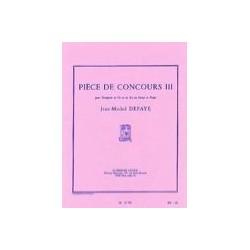 DEFAYE MORCEAU DE CONCOURS III