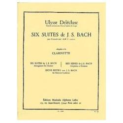 Bach Johann Sebastian / Delécluse Ulysse 6 Suites pour Violoncelle Transcrites pour Clarinette