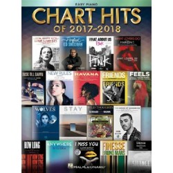 CHART HITS 2017-2018 EASY PIANO