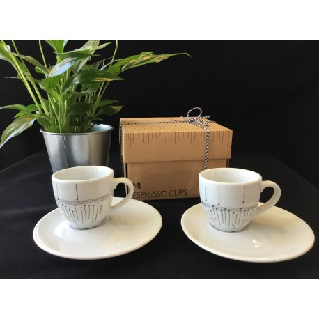 SET 2 TASSES ESPRESSO CUPS