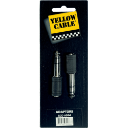 YELLOW CABLE AD04 ADATATEUR MINI JACK GROS JACK