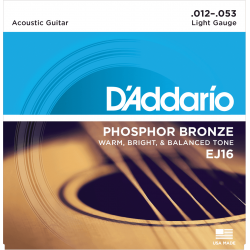 D'addario EJ16 - JEUX PHOSPHORE BRONZE Light 12-16-24-32-42-53