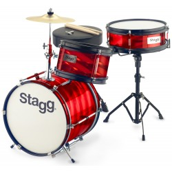 "STAGG JR3 8"" 10"" 12"" BATTERIE JUNIOR ROUGE"