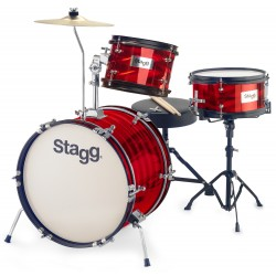"STAGG JR3 8"" 10"" 16"" BATTERIE JUNIOR ROUGE"