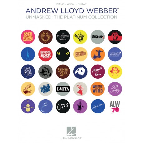 Adrew Lloyd Webber - Unmasked : The Platinum Collection Piano Vocal Guitar