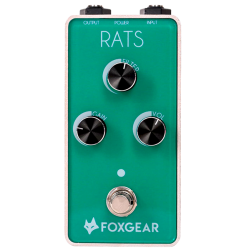 FOX GEAR RATS PEDALE DISTORTION GUITARE