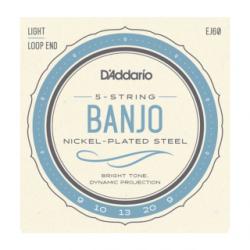 JEU D ADDARIO Cordes BANJO 5C NICKEL LIGHT 09-10-13-20W-09
