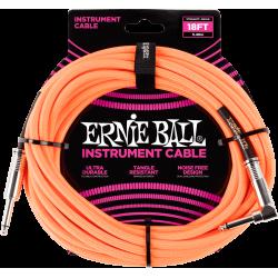 ERNIE BALL Jack/jack coudé 5.50 m orange fluo