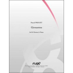 PROUST Pascal Girouettes clarinette sib & piano