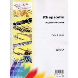 GUIOT Raymond Rhapsodie Flûte traversière et piano