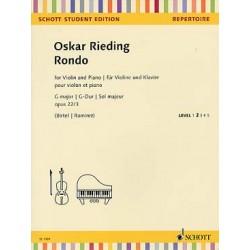 RIEDING Oscar (1840-1918) Rondo op. 22 N° 3 en sol M violon et piano